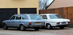 A336 UFL & JHX 246K (2) (Nivek.Old.Gold) Tags: 1984 mercedes 230te maloneyrhodes cambridge 1971 220 automatic