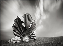'I hear those voices' (candicemorganphotography) Tags: shell clam maggiehambling sculpture monochrome mono longexposure beach aldeburgh eastanglia clouds niksilverefexpro sonycz2470mmf28 candicemorgan