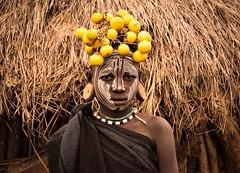 Mursi Girl (Rod Waddington) Tags: africa african afrika ethiopia etiopia omo omovalley mursi tribe tribal portrait girl people culture decorated earplugs
