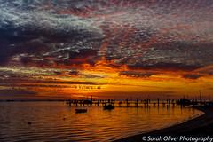 Another Flaming Sunset (SarahO44) Tags: denham westernaustralia australia au sunset jetty pier silhouette clouds relflection orange canon 6d boats western shark bay ocean mackerel sky outdoors cloudscape