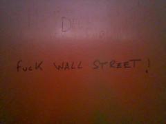 """""""Fuck Wall Street!"""" (justin) Tags: portugal graffiti nokia3220 wallstreet capitalism"""