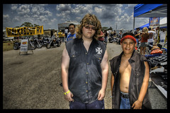 Napoleon and Pedro, Harleyized. (Stuck in Customs) Tags: rot austin texas harley pedro harleydavidson motorcycle napoleon hog hdr hogs rotbikerrally stuckincustoms