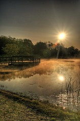 Foggy Morn (Aldo Risolvo) Tags: morning sun reflection 20d water fog sunrise canon landscape pond foggy aldo range hdr cataldo cataldo1977 risolvo