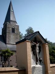 Sint-Hilariuskerk, Mullem (Erf-goed.be) Tags: geotagged kerk oostvlaanderen oudenaarde mullem archeonet sinthilariuskerk geo:lon=3604 geo:lat=50896