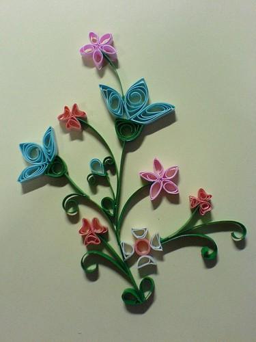 схемы квиллинга цветы.