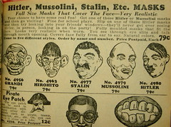 Johnson Smith Catalog Page, 1943 (zoomar) Tags: mask hitler masks ghandi catalog stalin 1943 hirohito mussonlini johnsonsmith