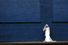 the blue wall (squarerootofnine) Tags: blue portrait wall bride interestingness jenni explore deepellum myfave bigframe i500 squarerootofninecom treyhillphotographs clientphotographs stuffiwashiredtodo nontraditionalportraiture explore6242006 sqrt9test1