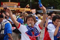 japan #2 (philkry) Tags: brazil japan fan fifa soccer brasilien wm fans worldcup dortmund wm2006 friedensplatz