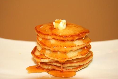 my breakfast: home-made dollar pancakes