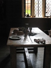 Kitchen Anti-room (pixiepie) Tags: bread table plate tudor pewter kentwellhall goblet