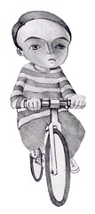 fredrick the biker (BIGAWK) Tags: life nyc light shadow portrait newyork love bike bicycle illustration pencil design sketch interestingness child ride graphic drawing render character dream sketchbook study imagination characters create draw pedal blackbook