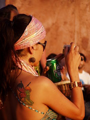 beautiful woman around (Iveta) Tags: summer people woman beautiful tattoo hippies drums spain sommer chilling ibiza gwc lovepeace eivissa spanien trommeln iveta calabenirras byiveta friendlychallenge