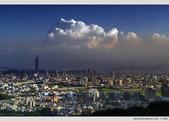 Taipei on the eve of typhoon Bilis (2006.7.11) (*dans) Tags: clouds taiwan pollution taipei taipei101 typhoon bilis