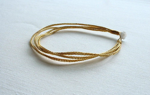 Gold braid bracelet