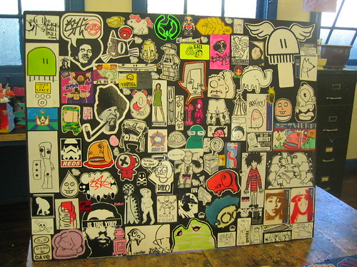 street styles sticker display