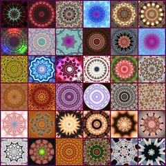 Mosaic of Kaleidoscopes & Mandalas (Tobyotter) Tags: fdsflickrtoys mosaic kaleidoscope kaleidoscopes mandalas 10faves kaleidoscopesonly