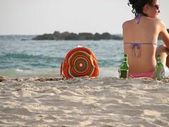 At the beach (Shemer) Tags: beach beer bag telaviv