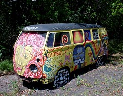 Hippie bus, by Flickr user Ty