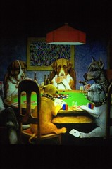 Dogs playing poker - by ptufts