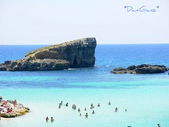 Comino  Laguna Blu (*DaniGanz*) Tags: blue sea people beach water rock island interestingness europe mare blu turquoise malta persone explore roccia acqua azzurro spiaggia bluelagoon mediterraneansea azur isola turchese comino marmediterraneo daniganz lagunablu flickrsexplore