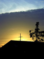 Strange Morning (Mr. Greenjeans) Tags: morning sky abstract clouds sunrise catchycolors batonrouge urbannature backlit lightplay mrgreenjeans birdsonawire gaylon gaylonkeeling