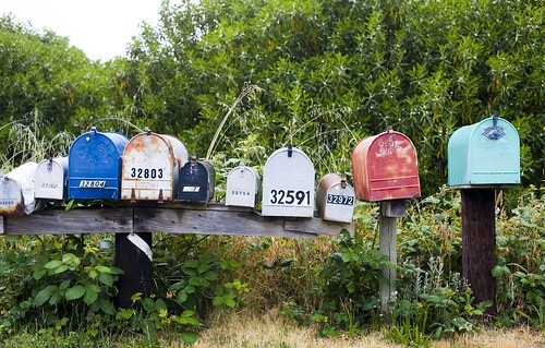 Mail Boxes, Fort Bragg, California