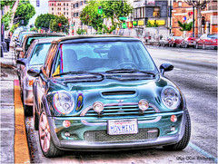 mon mini (Kris Kros) Tags: california ca street public car photography high cool nikon pix dynamic mini socal coche cooper kris minicooper parked pasadena range hdr jjj kkg coloradoblvd interestingness6 photomatix kros kriskros 5xp exploretop20 kk2k monmini kkgallery