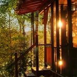 sun through the porch hdr