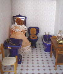 testing printable wallpaper and tilefloor for the doll's house (Anna Amnell) Tags: bathroom miniatures miniatura dollhouse dollshouse munecas puppenhaus nukkekoti kylpyhuone nukketalo