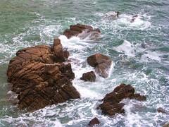 Churning Sea / Mer agitée (vemma) Tags: sea water brittany rocks foam labaule fcsea