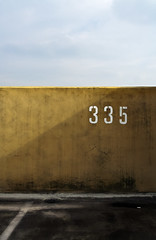 335 (Andreas Reinhold) Tags: shadow sky lines wall clouds concrete geometry number asphalt mettmann 335 abigfave