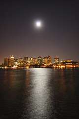 4:11am Moon Over Boston (Pear Biter) Tags: city moon boston skyline geotagged massachusetts over citylights 30d eastboston bostonist grainmoon geo:lat=4236919 geo:lon=71043718 loprestipark moonover heretix