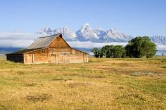 Barn on Mormon Row (Robby Edwards) Tags: vacation mountains fog barn nationalpark wyoming grandteton grandtetonnationalpark payitforward mormonrow specland specnature twtmeblogged moultonbarn abigfave