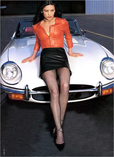 Classic actress with Classic Jaguar. Nice...