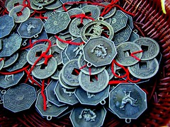 lucky chinese coins (Vanessa Pike-Russell) Tags: street city money macro texture closeup mall shopping asian coins vibrant craft australia finepix nsw mostinteresting fujifilm produce popular upclose 2500 wollongong myfaves illawarra steelcity pc2500 s5600 thegong bigfave masrket mootrade vanessapikerussellcom vanessapikerussell vanessapikerussellbest