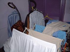 St John's Crescent, around the house - 24 - Must tidy the spare room (marmaset) Tags: people window wales mess locals view room cardiff stjohns books clothes shirts makeover spare decor canton spareroom treganna