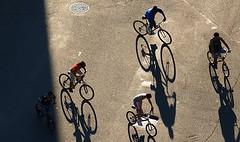 i.love.bike.shadows (dlemieux) Tags: life street city nyc newyorkcity friends light people urban sunlight les kids wonderful children downtown shadows manhattan lowereastside citylife dlemieux dianalemieux bikes fromabove bikeride mates 15favorites bikeshadows