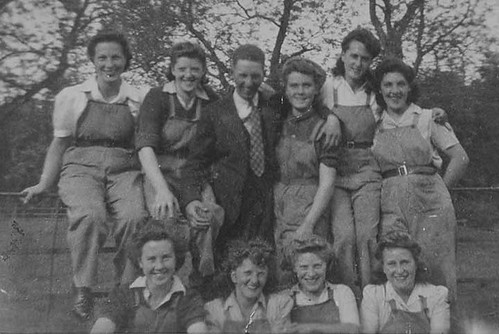 Land Girls at Eaglescairnie Farm, WW2