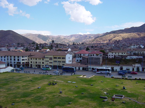 View of Cusco from Koricancha por lthomas.