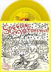 Speeding Motorcycle (Squid Ink) Tags: yolatengo danieljohnston seveninchsingle