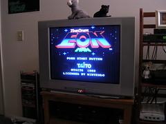 GRATE!! EON MAN! (News Fedora) Tags: television tv nintendo prototype videogame nes proto cartridge taito titlescreen unreleased unreleasedvideogame timedivereonman eonman