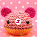 Amigurumi Pink cupcake bear