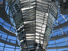 Mirrors in the Reichstag