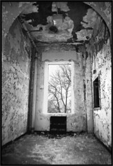 Patient's Room at Dixmont (deatonstreet) Tags: bw texture abandoned window hospital peeling paint pennsylvania decay interior room urbanexploration asylum modernruins thesunmagazine