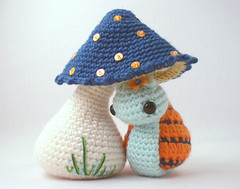snailset11 (ElisabethD) Tags: blue orange cute art mushroom colors toy toys beads crafts crochet snail craft fungi softie softies kawaii toadstool embriodery amigurumi crocheted sequins escargot gourmetamigurumi detailed