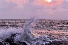 IL TRAMONTO   --- THE SUNSET (Ezio Donati) Tags: africa cameroun kibri atlanticocean natura nature mare sea panorama landscape tramonto sunset sole sun acqua water rosso red cielo sky orizzonte horizon nuvole couds