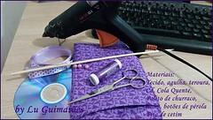 62498a6e842842c73f080ebeb7e5aca2 (Artesanato com amor by Lu Guimaraes) Tags: de flor fuxico cortinas reciclagem tecido prendedor