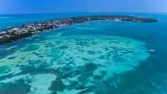 Yachts in the Caribbean Sea near the Split in Caye Caulker, Belize