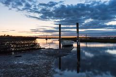 Brancaster Staithe, Norfolk, UK night shots (4) (Nick Bowman1) Tags: boats brancasterstaithe nationaltrust norfolk sonya99 sonyzeissvariosonnar2470f28 uk carheadlights nightshot england unitedkingdom gb