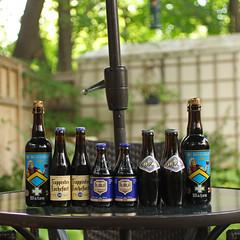 22 Belgian Beers on the Wall (Dan's Beer) Tags: blue beer saint st grande beers 10 ale reserve monk belgian 12 ales trappist chimay rochefort orval bernardus